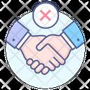 Avoid Handshake Greeting Stop Icon