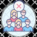 Avoid Public Places Icon