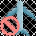Travel Avoid Airplane Icon