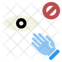 Avoiding Touch Eyes Icon