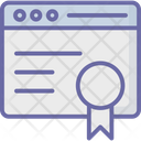 Award Browser Certificate Icon