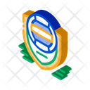 Volleyball Emblem White Icon