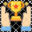 Hand Trophy Award Icon