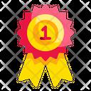 Award Ribbon First Icon