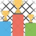 Trophies On Podium Icon