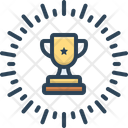 Awarded Trophy Prize Icon