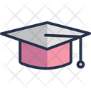 Awarded Cap Commencement Degree Cap Icon