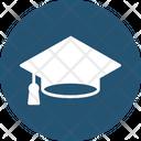 Awarded Cap Degree Cap Graduate Icon