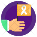 Handheld Flag Awareness Flag Cancer Flag Icon