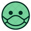 Green Smiley Emoji Icon