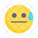 Awkward Oops Anxiety Icon