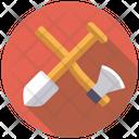 Axe and shovel Icon