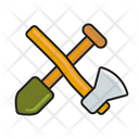 Axe and shovel Icon