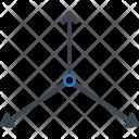 Axis Arrow X Icon