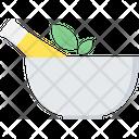Ayurveda Mortar Bowl Icon
