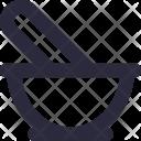 Mortar Pestle Medicine Icon