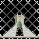 Azaditower Tehran Iran Icon