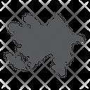 Azerbaijan Country Geograpgy Icon