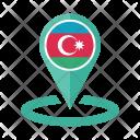Azerbaijan Flag Icon