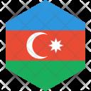 Azerbaijan Flag World Icon