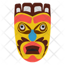 Aztec Mask African Culture Tribal Mask Icon