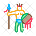 Aztec Warrior Man Icon