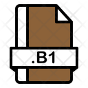 B 1 File Zix File File Format Icon