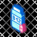 Vitamins B Isometric Icon