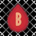 B Blood Type Icon