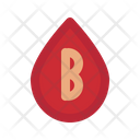 B Blood Type Medical Health Icon