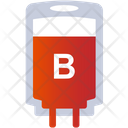 B Group Blood Blood Bottle Bottle Icon