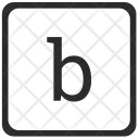 B Letter Icon