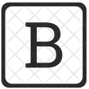 B Uppercase Letter Icon