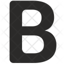 Letter Text Bold Icon