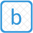 B Letter Lower Icon