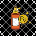 B 7 Biotin In Liquid Icon