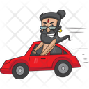 Baba In Car Icon