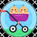 Babies Pram Babies Stroller Babies Cart Icon