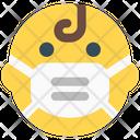 Baby Emoji With Face Mask Emoji Icon
