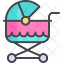 Baby Stroller Buggy Icon
