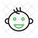 Smiling Baby Kid Icon