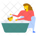 Baby Bathing Shower Icon
