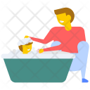 Baby Bathing Shower Icon