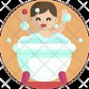 Baby Bathing Bathtub Icon
