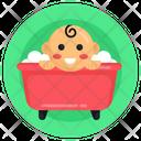 Baby Tub Baby Bath Tub Child Bathing Icon