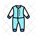 Baby Bed Body Clothes Icon