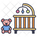 Baby Bed Crib Icon