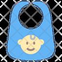 Bib Kid And Baby Baby Bib Icon