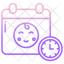Baby Birthdate And Time Icon