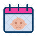 Baby Birthday Calendar Icon